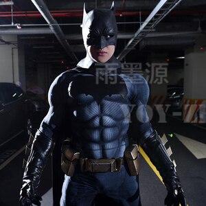 Image 1 - YOY ZENTAI عالية الجودة العضلات الحشو باتمان زي مع شعار جديد باتمان تأثيري حلي مع العضلات باتمان ارتداءها