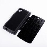 3800mAh Black Crocodile Leather Flip Case External Backup Battery Charger Cover Capa For LG Google Nexus