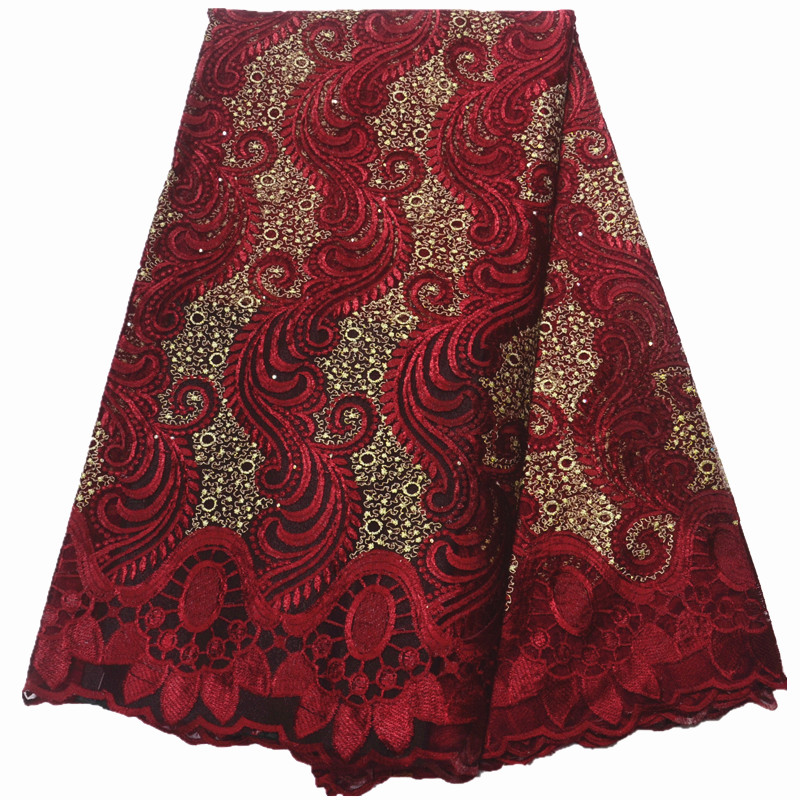 Fashion 2019 New african lace fabrics french fabric latest tulle African French Lace Fabric for wedding
