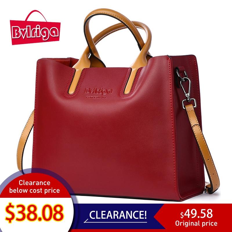 BVLRIGA 고급 핸드백 여성 가방 디자이너 유명 브랜드 정품 가죽 가방 여성 크로스 바디 메신저 숄더 백 토트 백