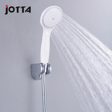 White single-function anti-fall handheld sprinkler head pressurized shower water-saving cold and hot ABS