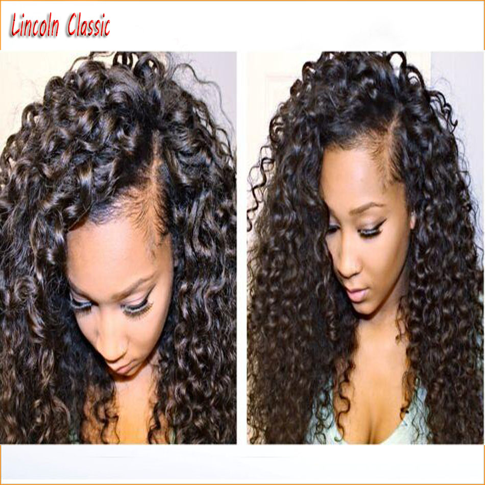 New Natural Hairline 7a Unprocessed 100 Human font b Hair b font Curly Wigs Lace Front
