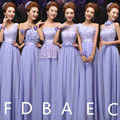 Cheap Mix style long Lace chiffon Bridesmaid Dresses Lavender purple Pink wedding dress, Prom Dress party dress women  Vestidos