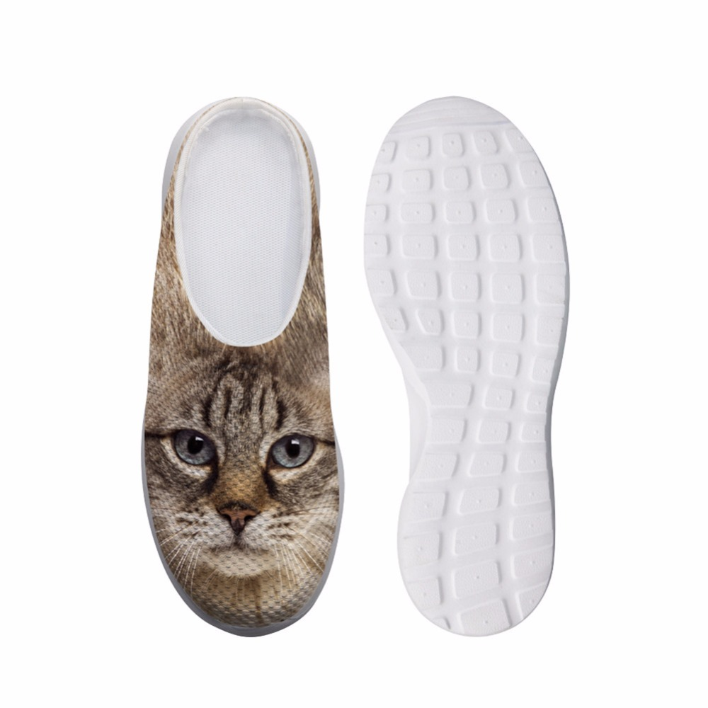 Noisy Designs Women s Shoes House Slippers Biology 3D Pet Dog Cute Cat Prints Summe Slip ...