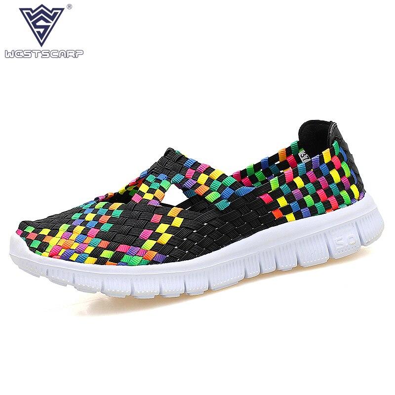 WEST SCARP Women Shoes Summer Lady Casual Shoes Woman,Slip On Breathable Summer Flats Leisure Feminino Sapato Size 36-40 туфли nine west nwomaja 2015 1590