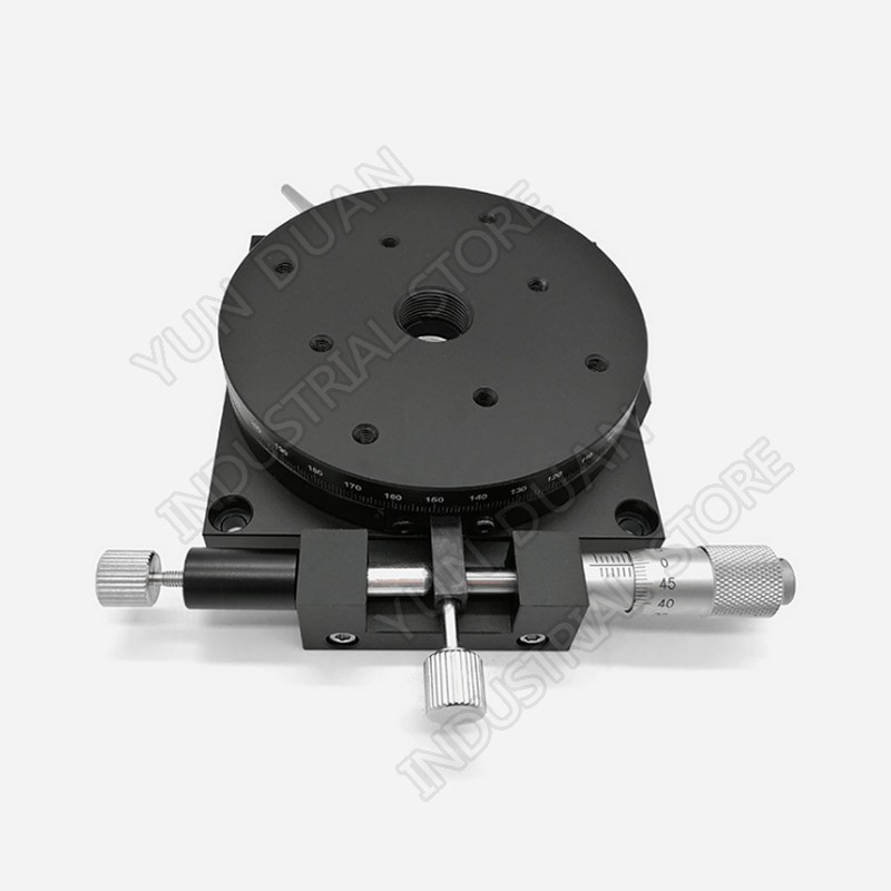 R Axis 100MM 4 Manual 360 degree Heavy Load Rotary sliding table Micrometer Precision Adjust Angle Platform Optical RSP100-LR Axis 100MM 4 Manual 360 degree Heavy Load Rotary sliding table Micrometer Precision Adjust Angle Platform Optical RSP100-L