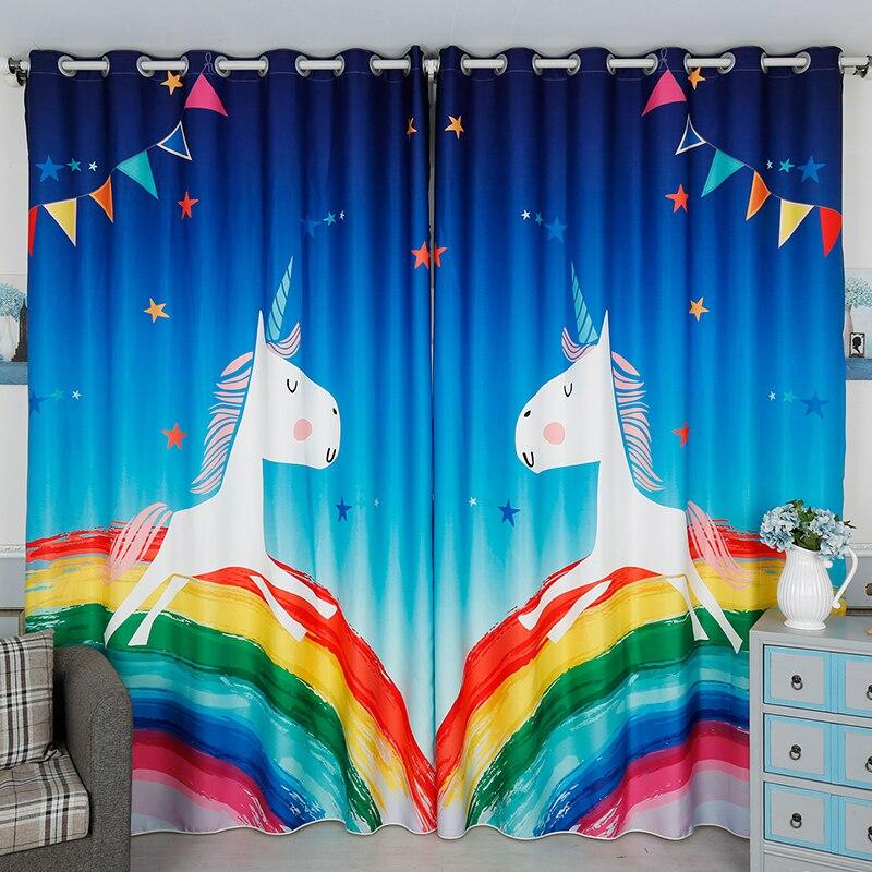 Mode moderne rideau occultant coloré dessin animé motif zèbre enfants chambre rideaux épaissir velours coton salon rideau