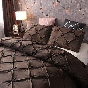 Image 5 - Новое постельное белье пододеяльник и наволочка 3D печать мрамора размер три пирога (без листов) спальня атласный лист