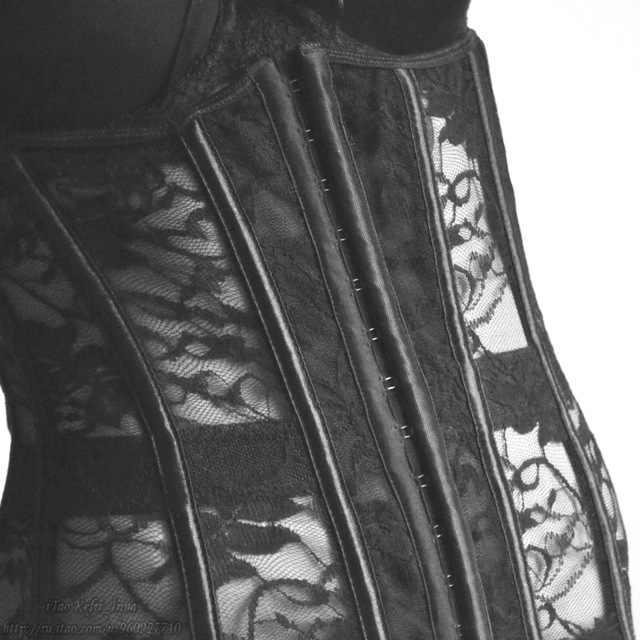 b893bca3bd ... Sexy Corselet Latex Hot Women Waist Corsets Cincher Black Floral Lace  Underbust Corset Bustier Gothic Clothing ...