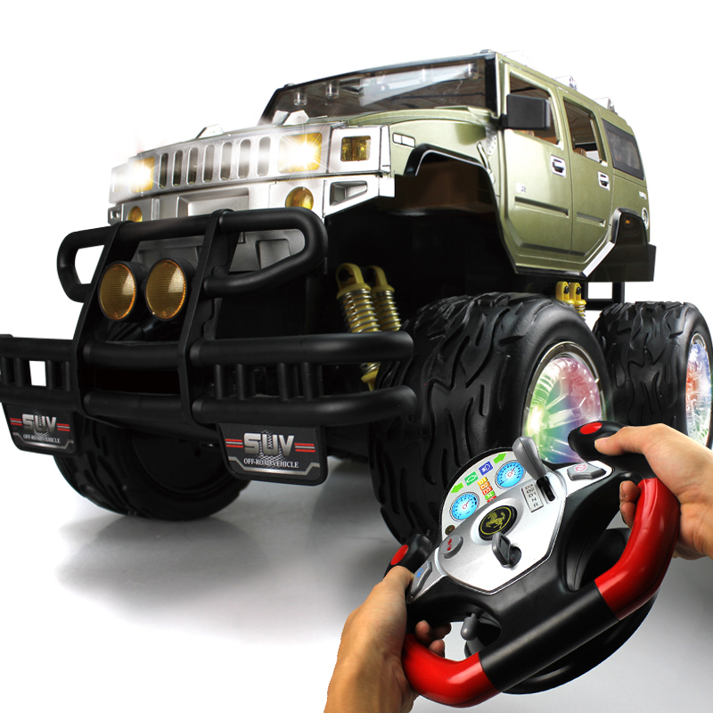 0949a large hummer suv steering wheel child remote control car remote control
