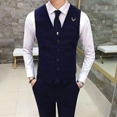 blue men vest