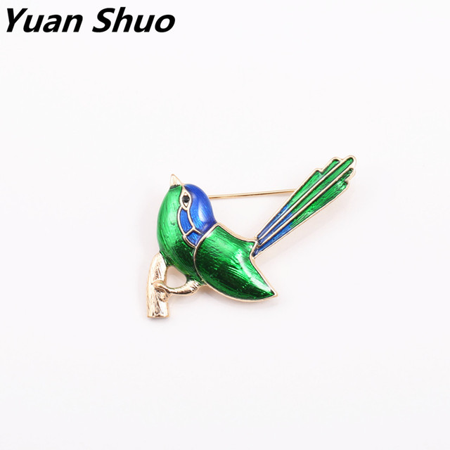 Europe and the United States foreign trade jewelry wholesale set auger enamel fashion exquisite small tits brooch