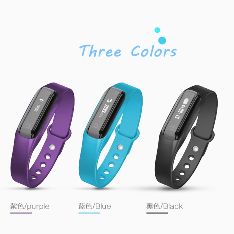 Warerproof Sweatproof Sport Pedometer Bluetooth Smart Bracelet Sync Phone Women Man Shock Reminder Smart Wristband for