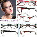 2016 New Factory Direct Free Shipping Prevalent Red Women Stainless Steel Oculars Frames With Spring Hinge Spectacle B50212