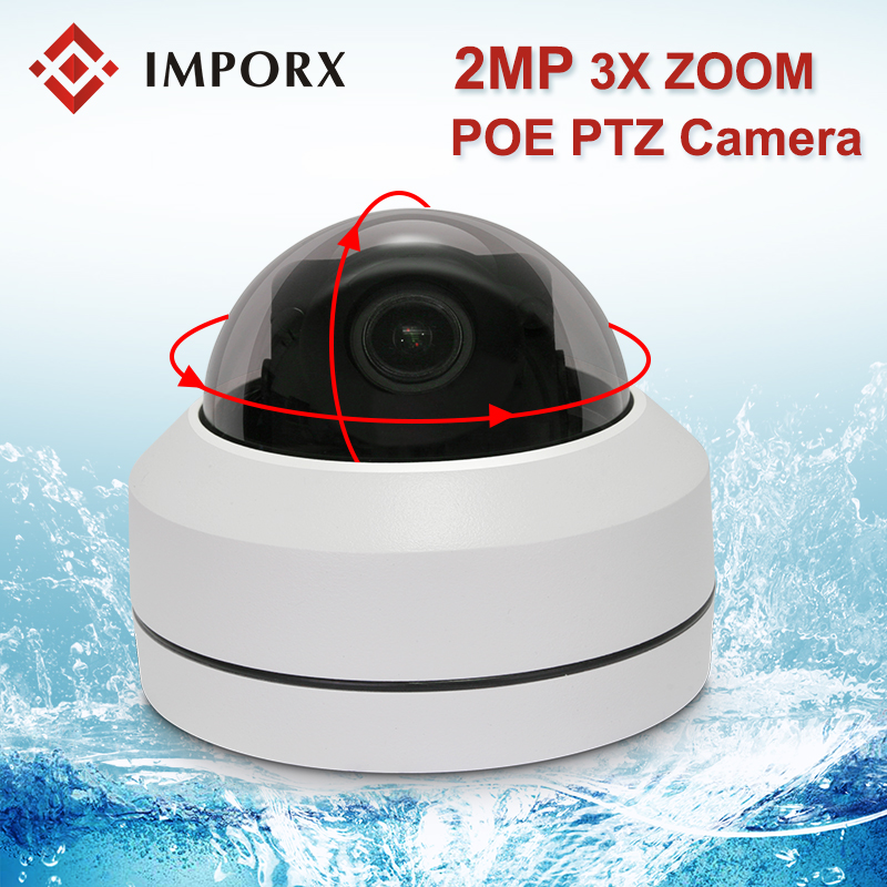 1080P 2MP Mini PTZ IP Camera POE Outdoor 3X Optical Zoom Dome Camera Waterproof CCTV Security IP Camera HD Network PTZ Camera