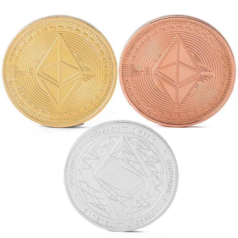 Золото/посеребренный эфириум памятная монета Монета искусство коллекция подарок физический Металл Имитация дома украшение Вечерние