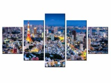 Top Wall Deocr Canvas Painting 5 Pcs Beautiful city Modern Printed Oil Pictures Beauty In Home Living Room framed/XC-city-120