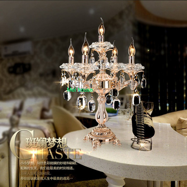 Online shop led decorative table lamps for living room crystal table led decorative table lamps for living room crystal table lamp crystal candelabra wedding metal table lamps for bedroom light aloadofball Image collections
