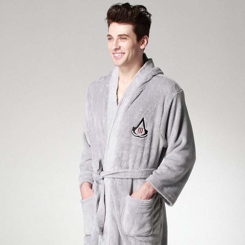Assassins creed 3 comfortable gray robes The embroidery Style ...