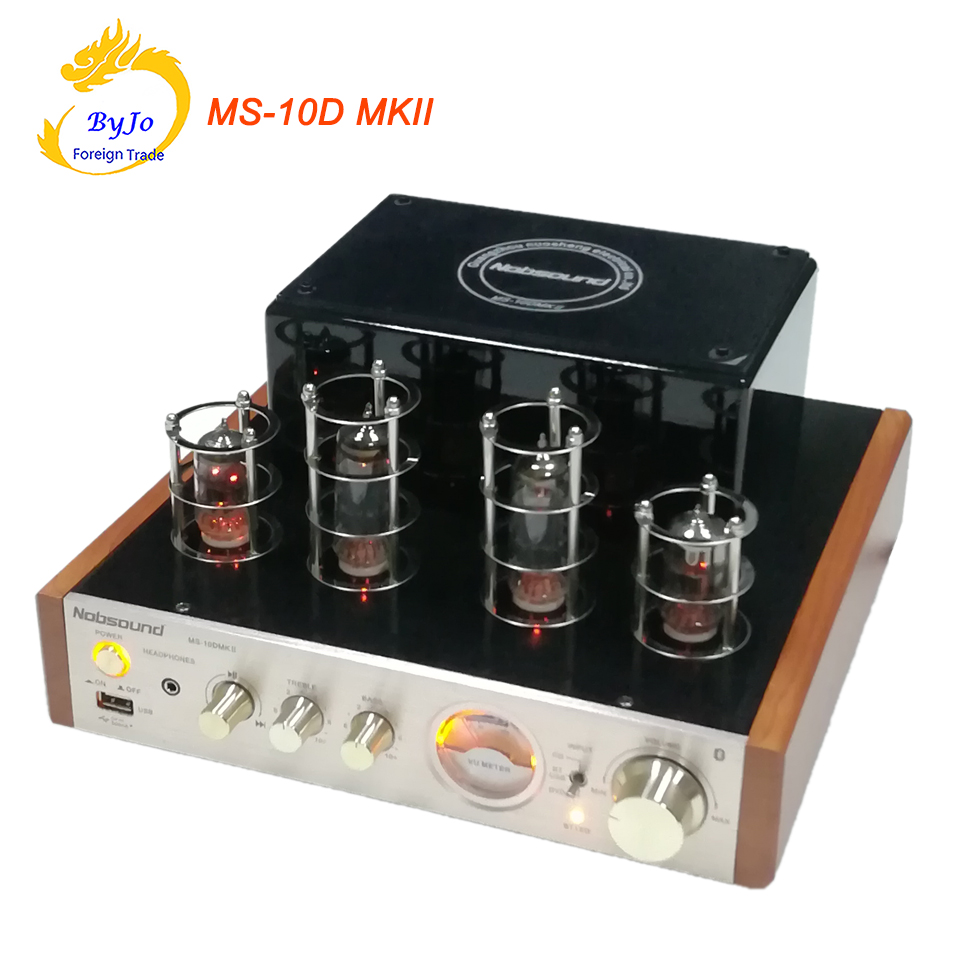 Nobsound MS-10D MKII Tube Amplifier Hifi Stereo Power Amplifier 25W*2 Vaccum Tube AMP Support Bluetooth and USB 110V or 220V t a d 10 mkii titan