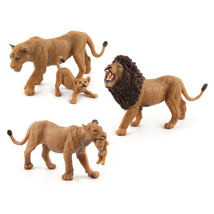 Image 3 - Wild Simulation Lion Animal models Toy plastic Lioness Animal figures home decor Gift For Kids figurine dolls Bedroom Decoration