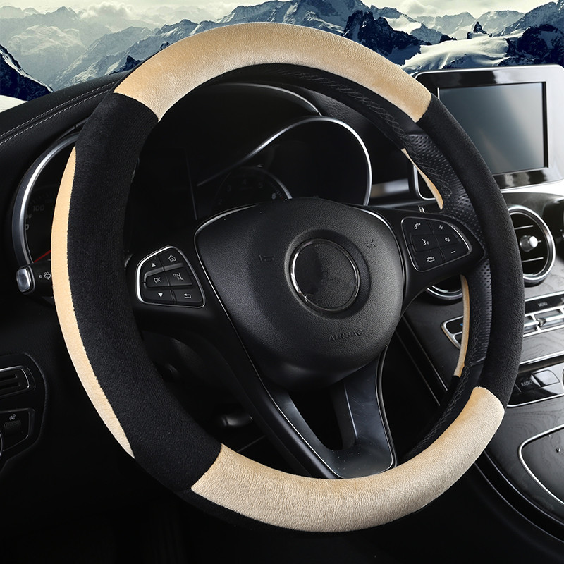 DONYUMMYJO New style Plush car steering wheel cover car styling Breathable anti slip steering-wheel 5 color chose best quality