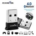 Rocketek baixa energia bluetooth usb 4.0 adaptador-suporte do windows, Linux; Clássico Bluetooth e fone de Ouvido Estéreo Compatível