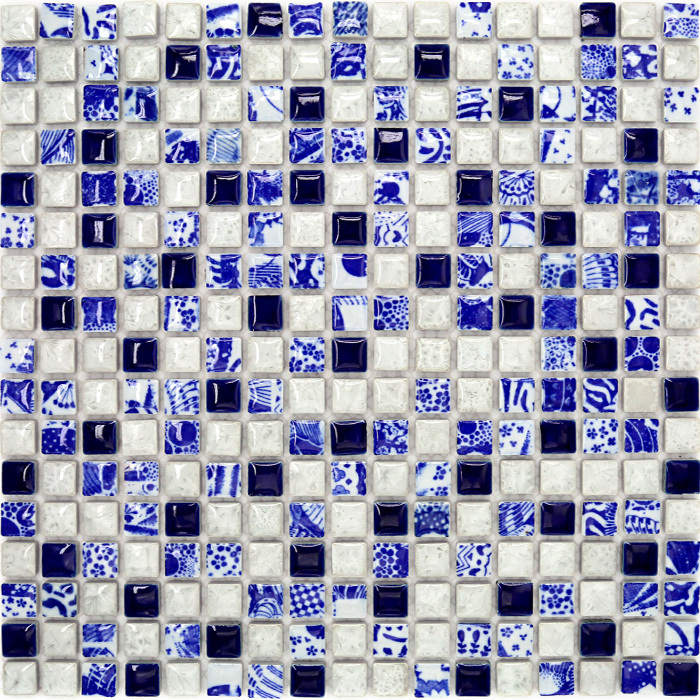 ceramic italy mosaic elegant blue and white porcelain back splash