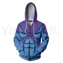 Anime Master of the Universe Hoodie Men and Women Zipper Hoodies 3d Print Hooded Jacket for Boys Harajuku Streetwear Cosplay