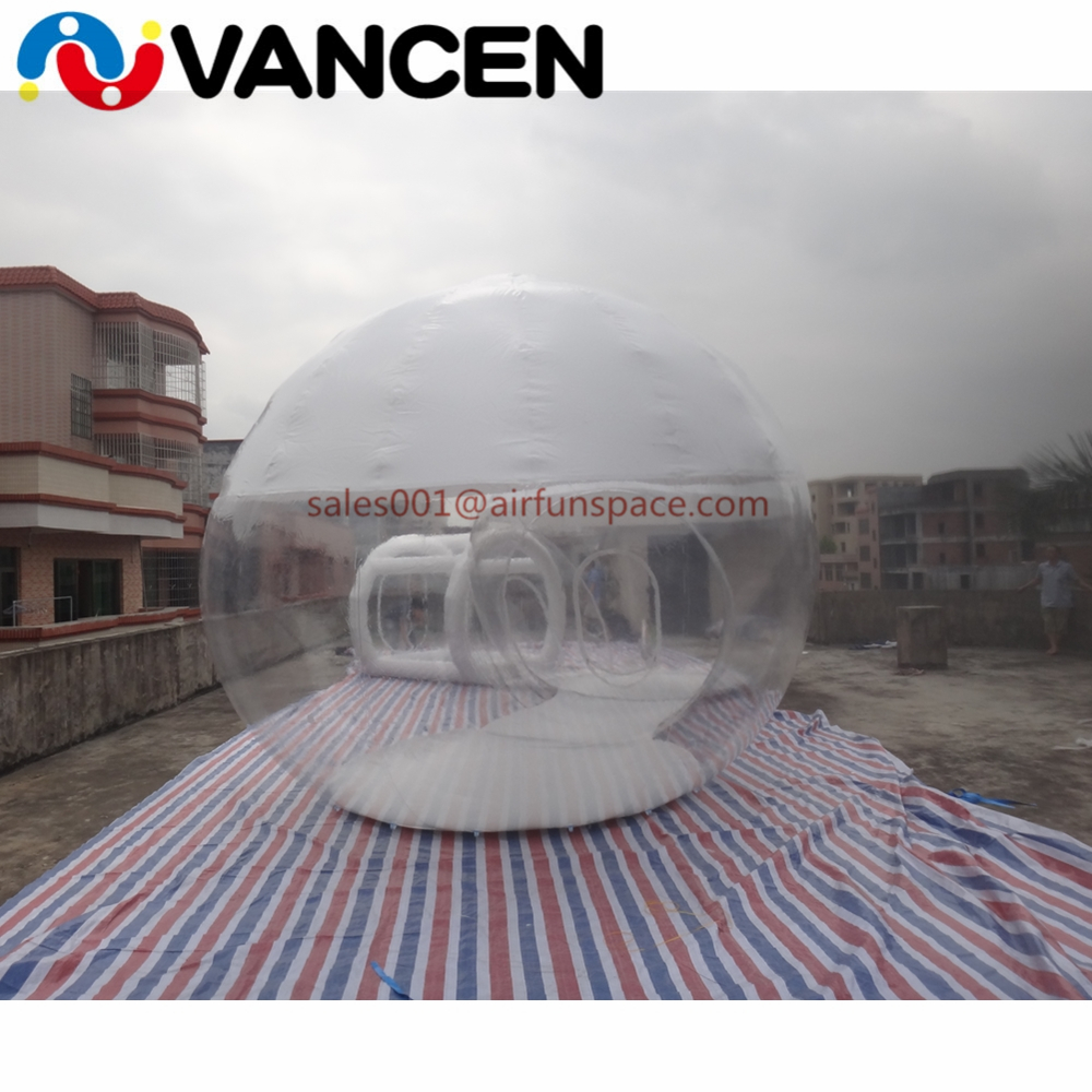 4mH Double rooms tent home used inflatable games transparent bubble tent cheap inflatable clear dome tent for camping - 5