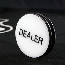 DEALER Black/White Poker Chips High Quality Big Crystal 7.5*7.5cm Casino Chip Classic Design For Banker