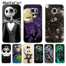 MaiYaCa Martinetti Skellington The Nightmare Before Christmas cassa del telefono delle cellule per samsung galaxy s7 s6 edge plus s5 s4 s8 più il caso di(China)
