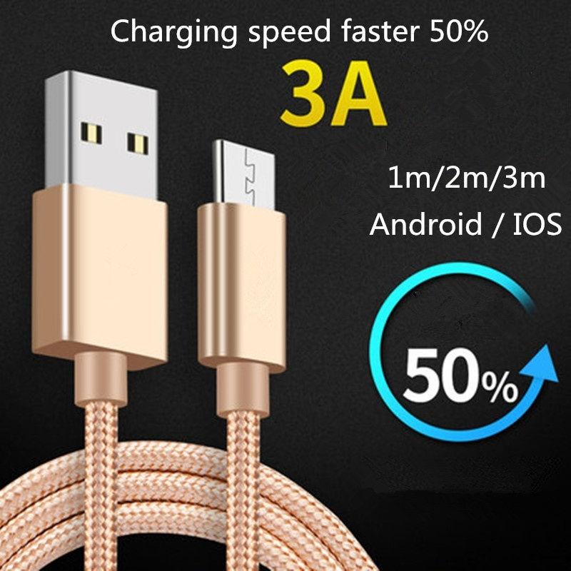 Fast Charger Micro USB Cable Data Sync USB Cable For Samsung J3 J7, S6 S7 Edge, Note 4 5, LG Stylo 2/3, LG G3 G4 K20 K30 Plus