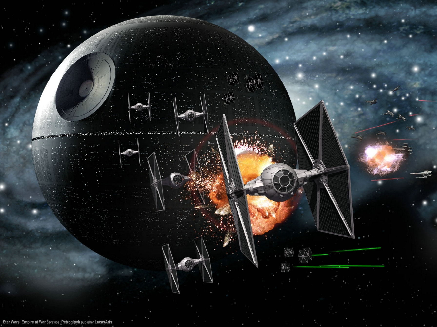 Star Wars Death Star Space Ship Background High Quality Computer