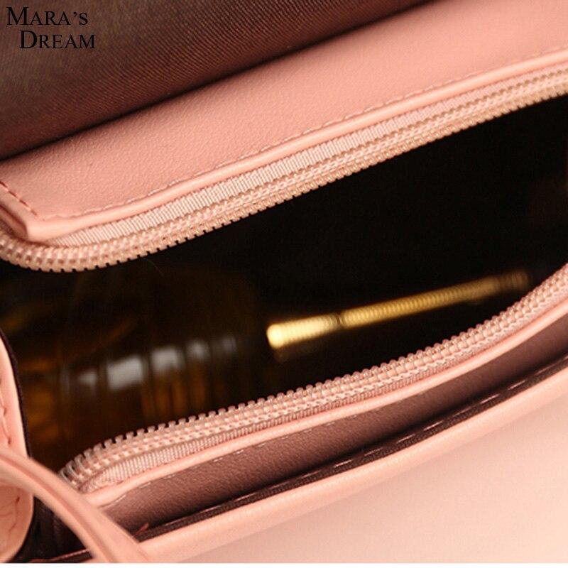 moda 2017 pequeno bolsa cadeias Main Material : High Quality PU Leather + Polyester Women Candy Color Crossbady Bag
