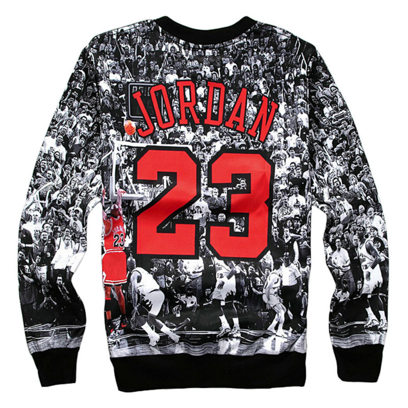 2017 New 3d Printed Sweatshirts Jordan Last Shot Harajuku Men