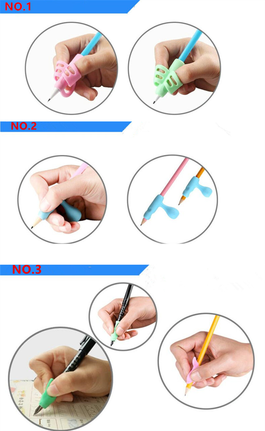 5 pieces/set Silicone Baby Learning Writing Tool Writing Pen Writing Correction Device Children Stationery Gift