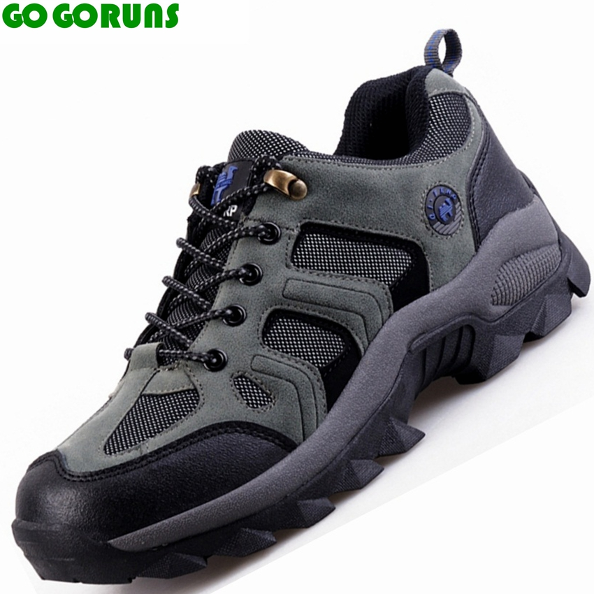 outdoor sports waterproof breathable leather hiking shoes men hunting trekking outventure sneakers climbing senderismo shoes new suede low top lace up outdoor sports waterproof lightweight hiking shoes men breathable trekking climbing athletic sneakers