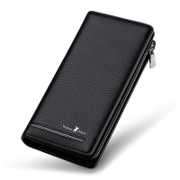 Leather Luxury Brand Men Zipper Wallets Long Men Purse Clutch Business Wallet Williampolo