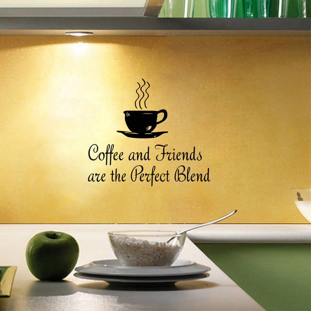 kitchen coffee quotes wall decal coffee and friends vinyl
