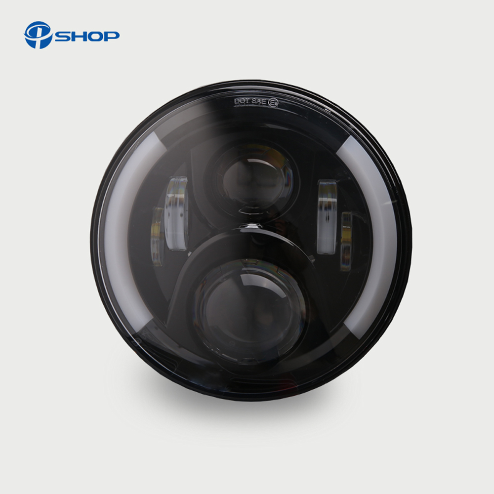 7inch 40w auto light for Jeep Wrangler JK LED Headlight with HI-Low beam with H4 and H13 DRL turn signal for LADA co light 2pcs 7 inch led driving light 50w 30w h4 h13 led car headlight kit auto for jeep led head lamp bulbs dipped