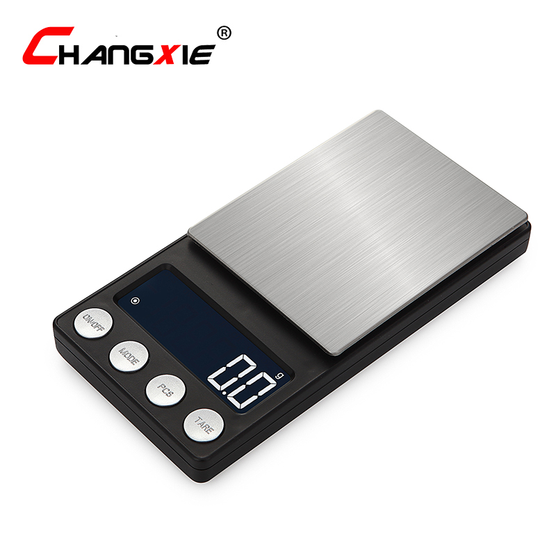 CHANGXIE 200g/0.01g Mini LCD Digital Scale Portable High-precision Electronic Weight Gold Jewelry Scales Pocket kitchen Scale Весы