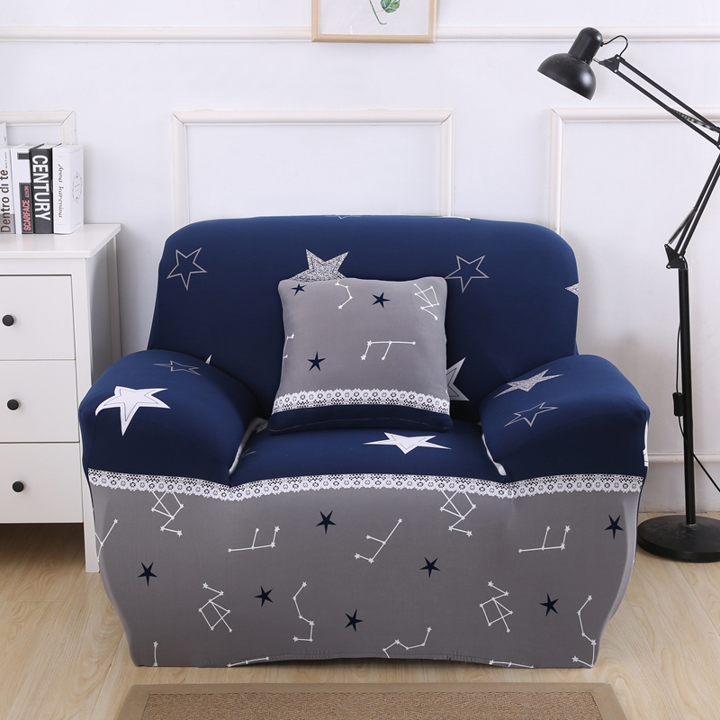 Stupendous Us 14 35 59 Off White Stars Universal Stretch Furniture Cover For Living Room Home Decoration Blue Couch Slipcovers Tight Wrap Corner Sofa Cover In Pdpeps Interior Chair Design Pdpepsorg