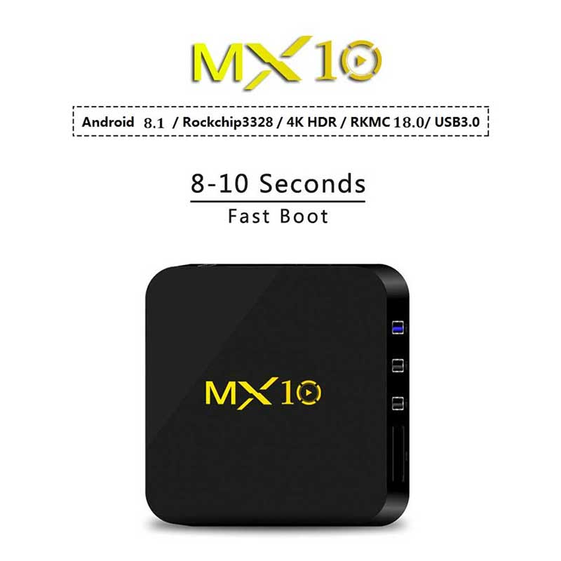 AH-LINK MX10 Smart TV Box For Android 7.1 Set Top Box HDMI 2.0a RK3288 For 4k@60Hz 2.4GHZ DC 5V 2A /4G DDR3/32GB EMMC TV Box цена