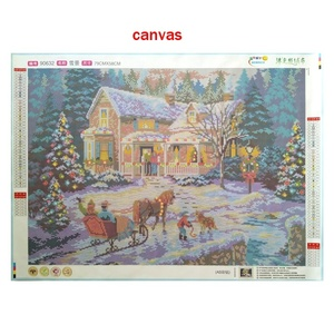 Image 4 - special shaped diamond painting 5d 3d diamond embroidery mosaic crystal stones beaded cross stitch kits scenery Christmas70*50cm