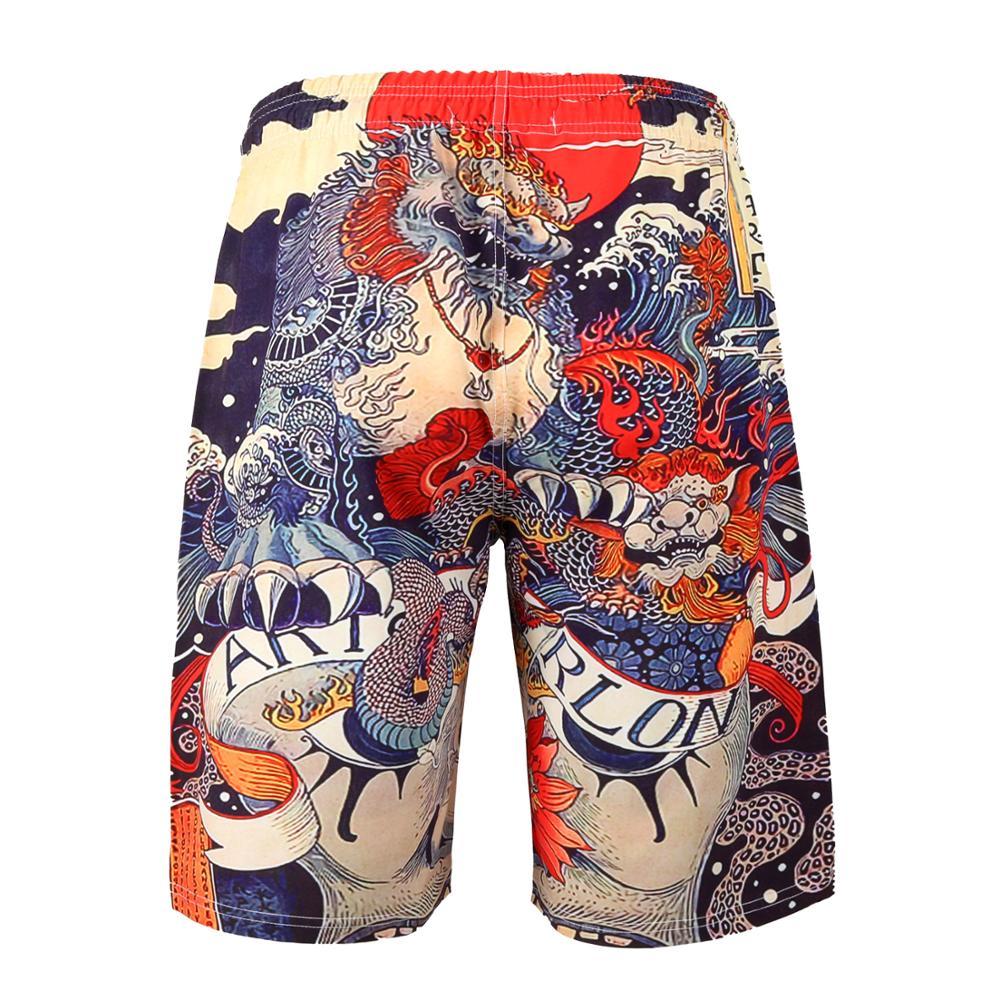 2019 new fashion boy Mens 3D Printed Funny Swim Trunks Quick Dry Beachwear Sports Running Swim Board Shorts Mesh Lining