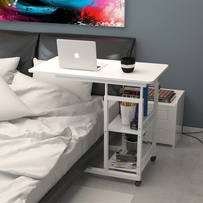 Bai Ze Concise De Chevet Table D'ordinateur Simple Et Facile De Paillasse Ménage Ordinateur Portable Table Pliante Lit Petit Bureau RU