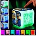 Crianças Iluminação Brinquedos Flash LED Luminaria Lâmpada Despertador Assecla Pokemon Anna Elsa Decoração de Mesa Digital Cube Melhor Presente com caixa