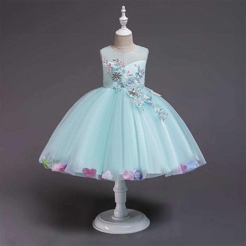Trolls Direct Selling Promotion Silk Bow Girls Dress Childrens Wedding Princess Carters Cotton Vest Flower Clothes