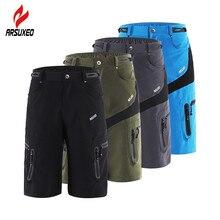ARSUXEO мужские тактические шорты для спорта на открытом воздухе, походные шорты с карманом на молнии, дышащие шорты для велоспорта, горного велосипеда, MTB